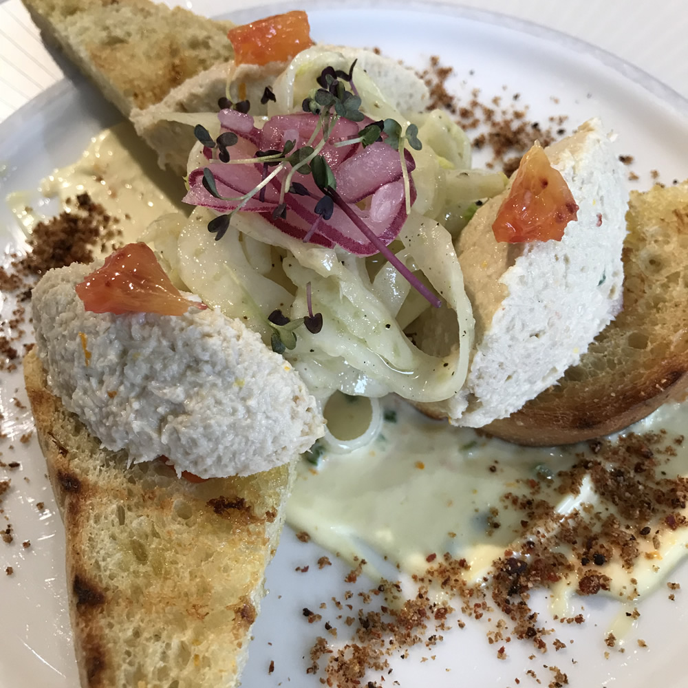 Crab Bruschetta with Orange and Chilli Mayonnaise 20180503