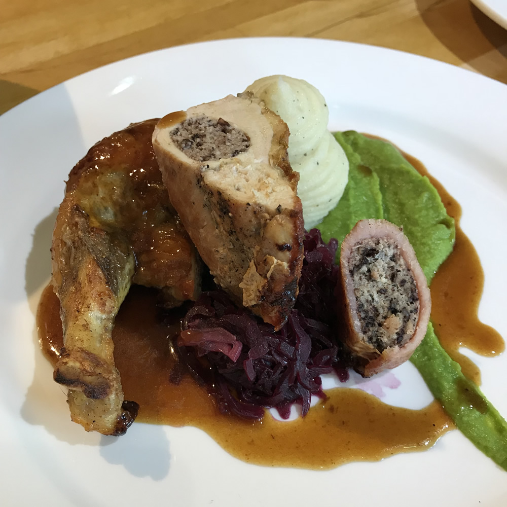 Guinea Fowl with Black Pudding 20180529