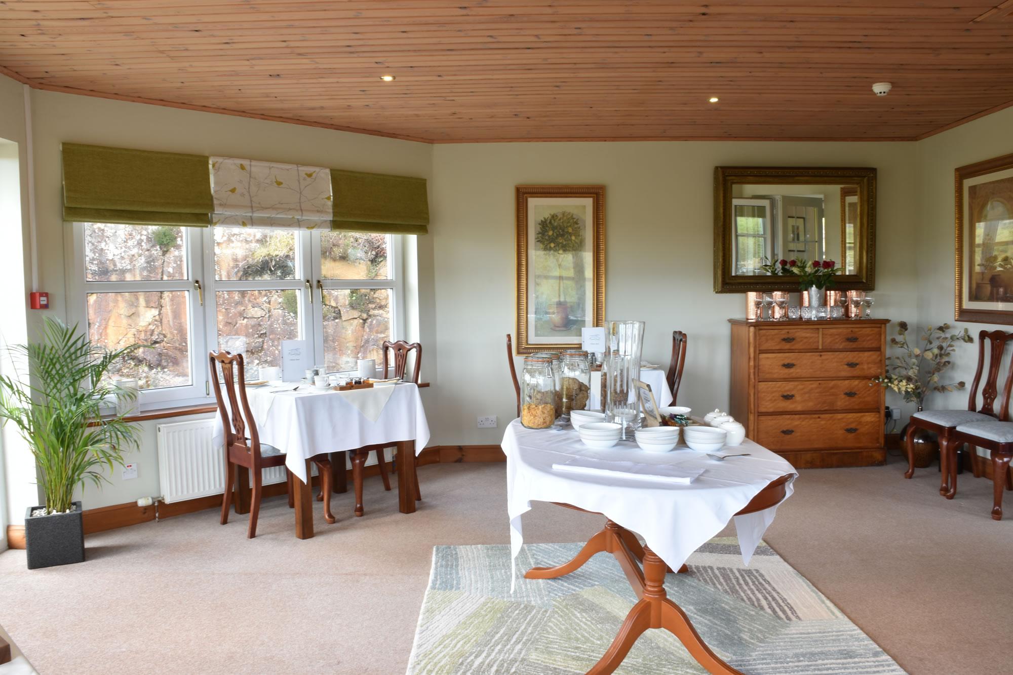 Killoran House Restaurant set for Breakfast