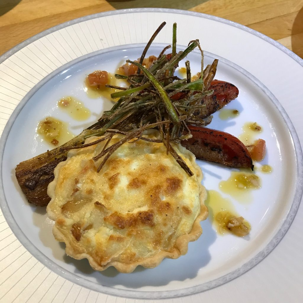 Smoked Haddock and Goat's Cheese Tart with Leeks and Tomatoes - 20180817