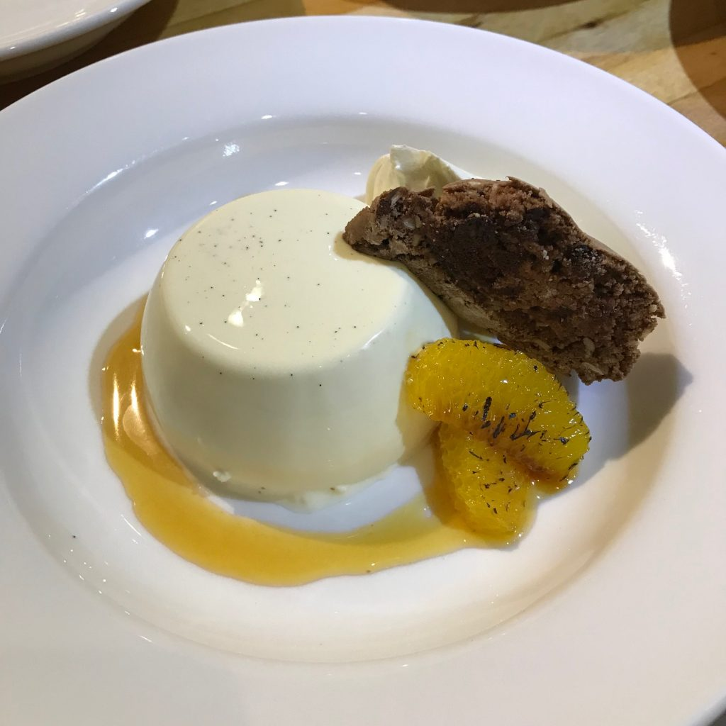 Panna Cotta with Oranges and Chocolate Biscotti - 20180831