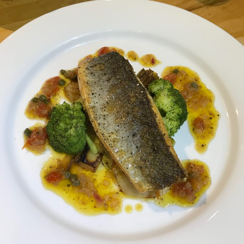 Sea Bass with Sauce Vierge and Leeks - 20180903