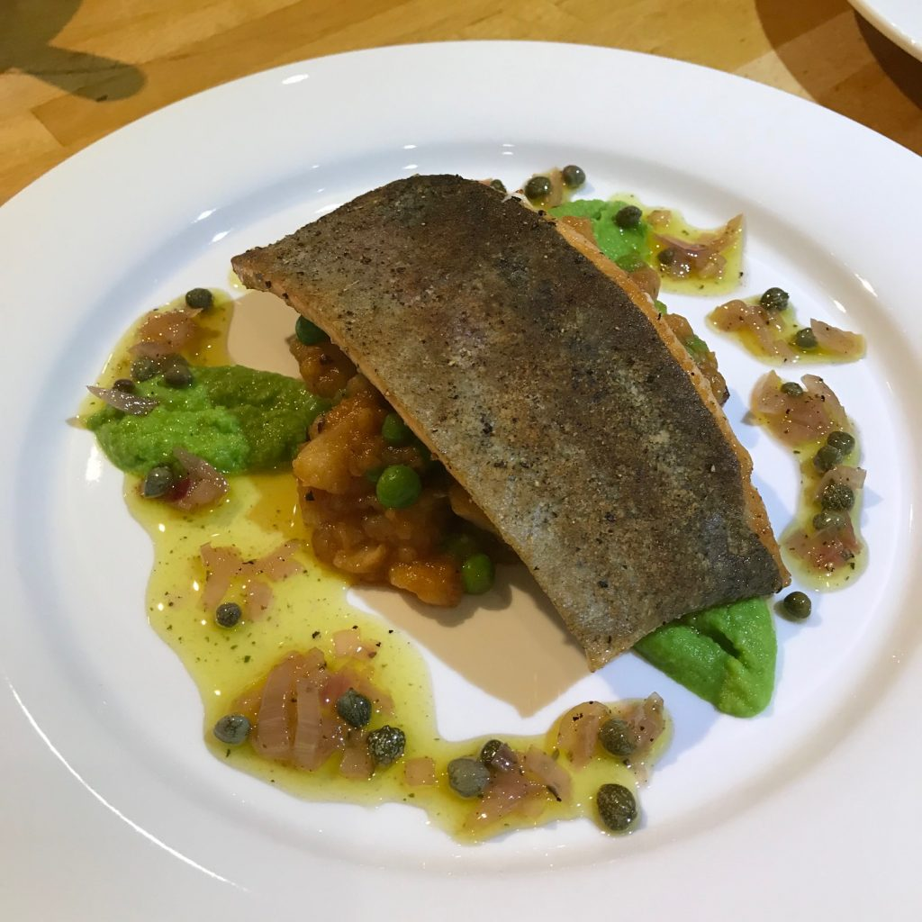 Trout with Chorizo and Peas - 20180905