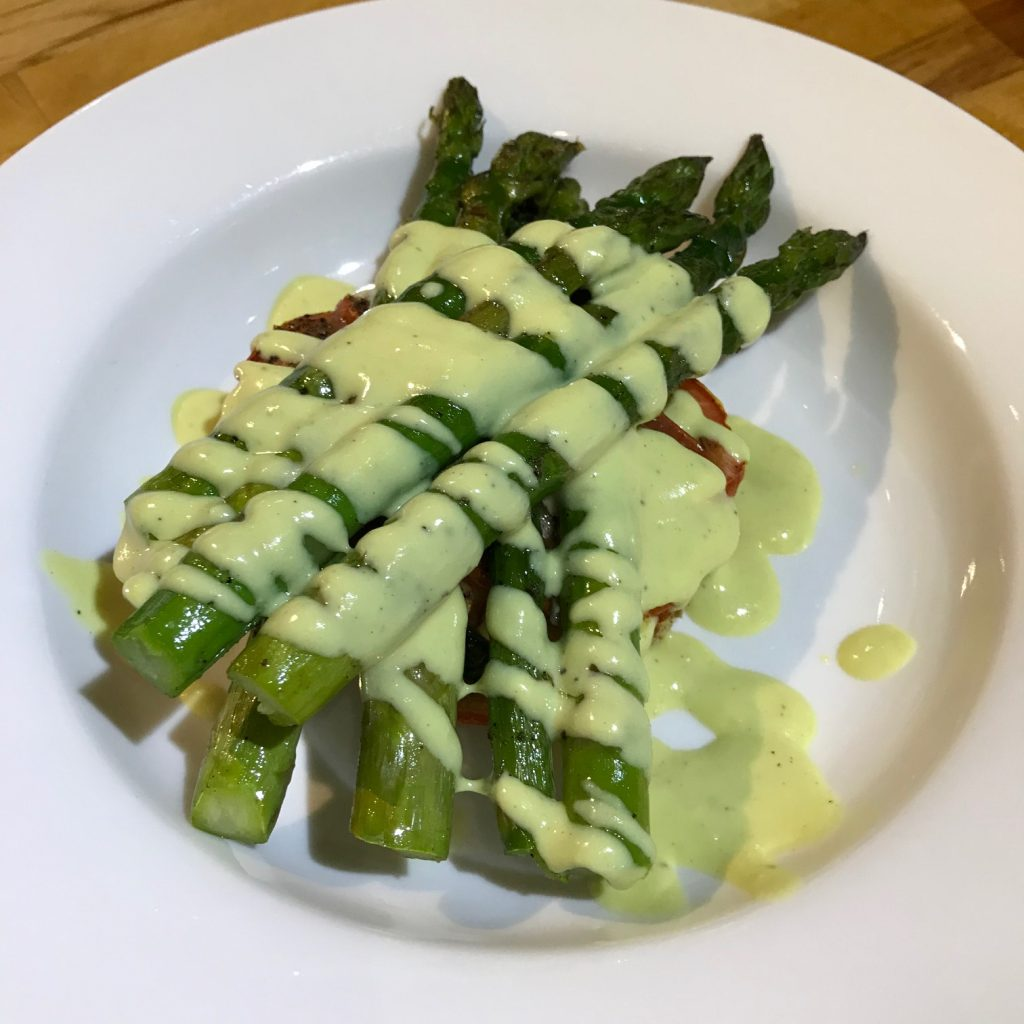 Vegan Asparagus and Hollandaise Sauce - 20180917