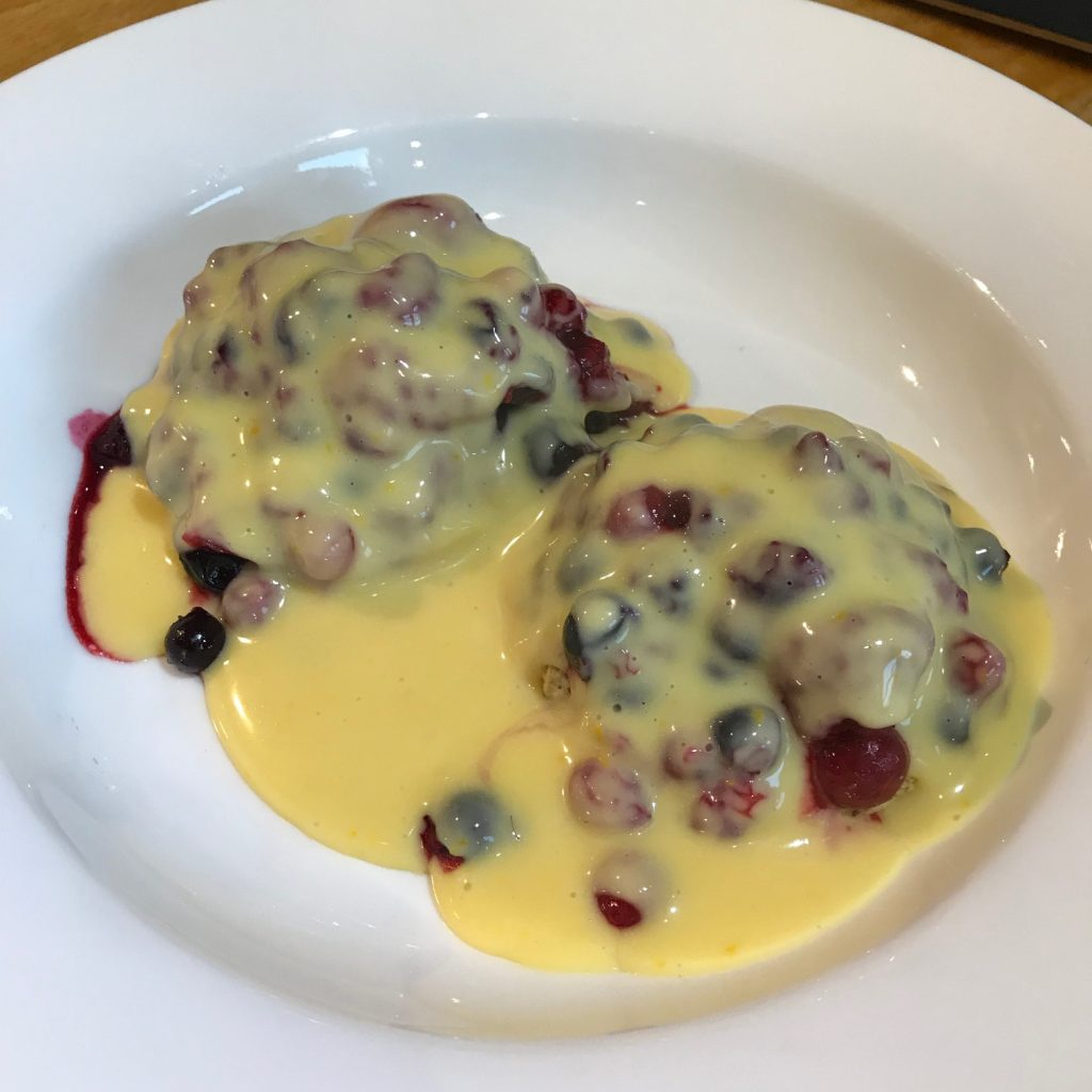 20190502 - Walnut Butter Scones with warm Berries and Orange Custard
