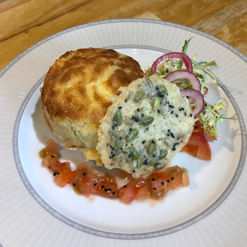20190506 - Goats' Cheese Soufflé with Tomatoes