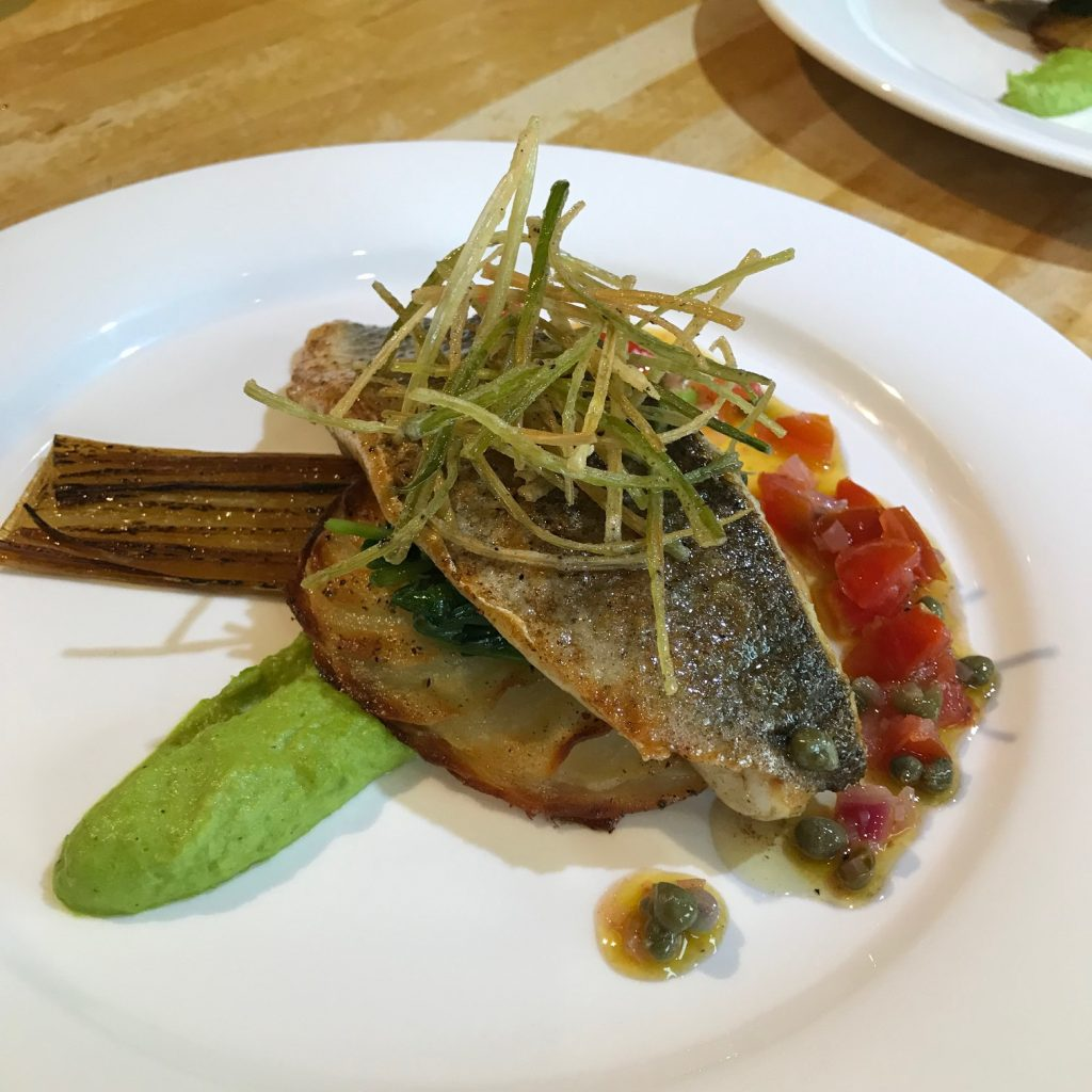 20190514 - Sea Bass with Sauce Vierge