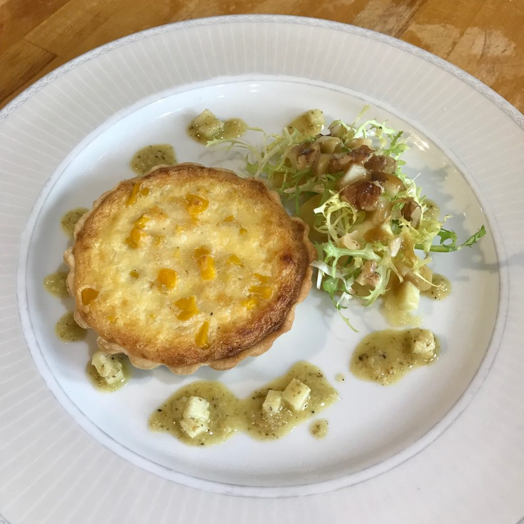 20190515 - Sweetcorn Tart with Apple and Walnut Dressing