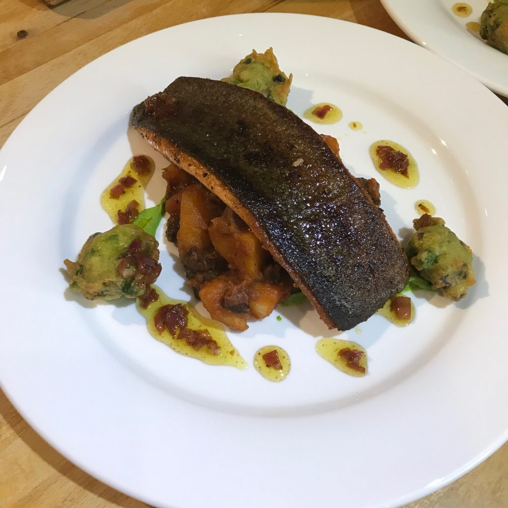 20190516 - Trout with Chorizo Fricassee