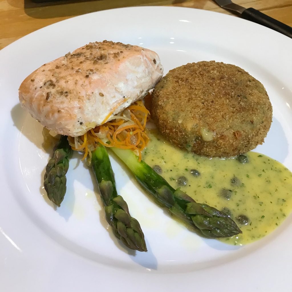 20190604 - Baked Fillet of Salmon with Salmon Fishcake