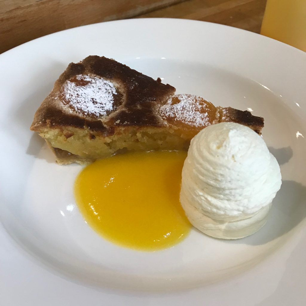 20190612 - Apricot and Almond Tart with Peach Sauce