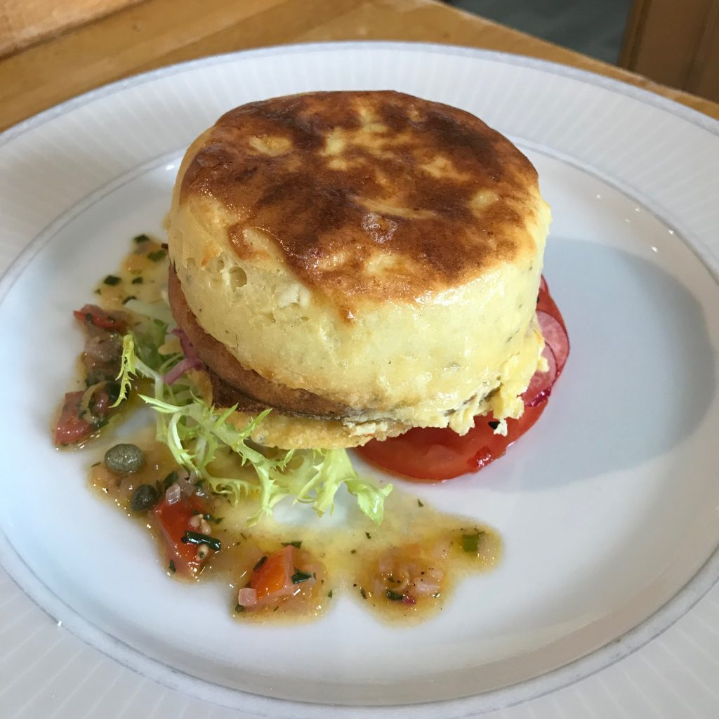 20190612 - Goats' Cheese Soufflé with Tomatoes & Chilli