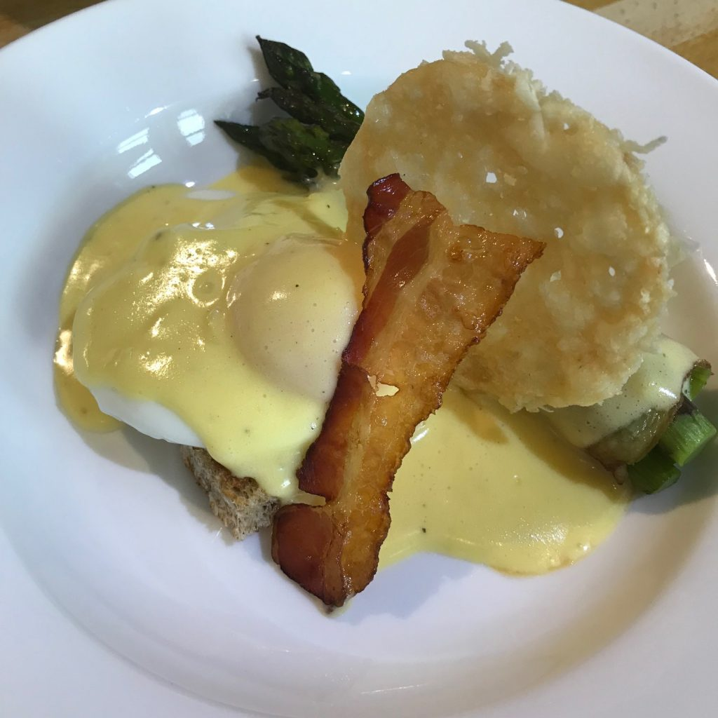 20190614 - Poached Egg with Asparagus, Pancetta & Béarnaise Sauce