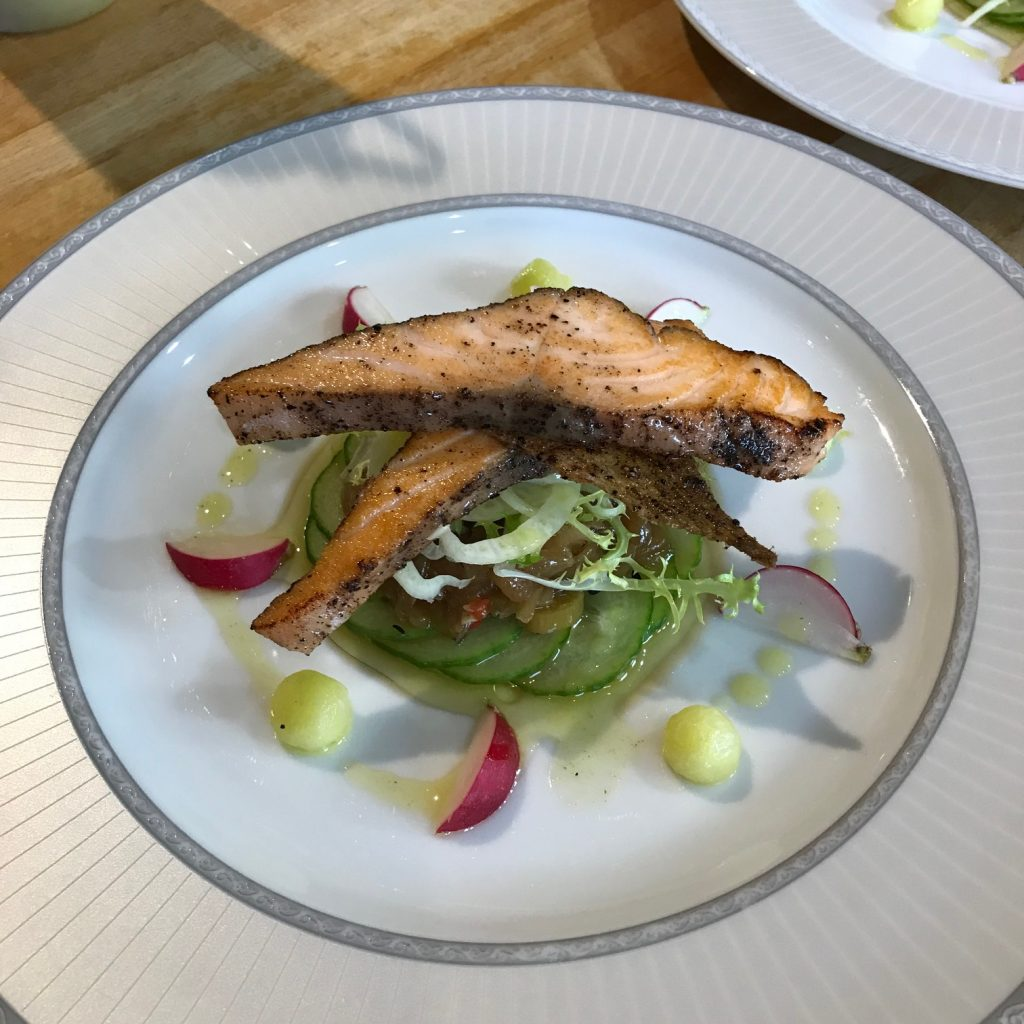 20190620 - Peppered Salmon with Cucumber Pickle