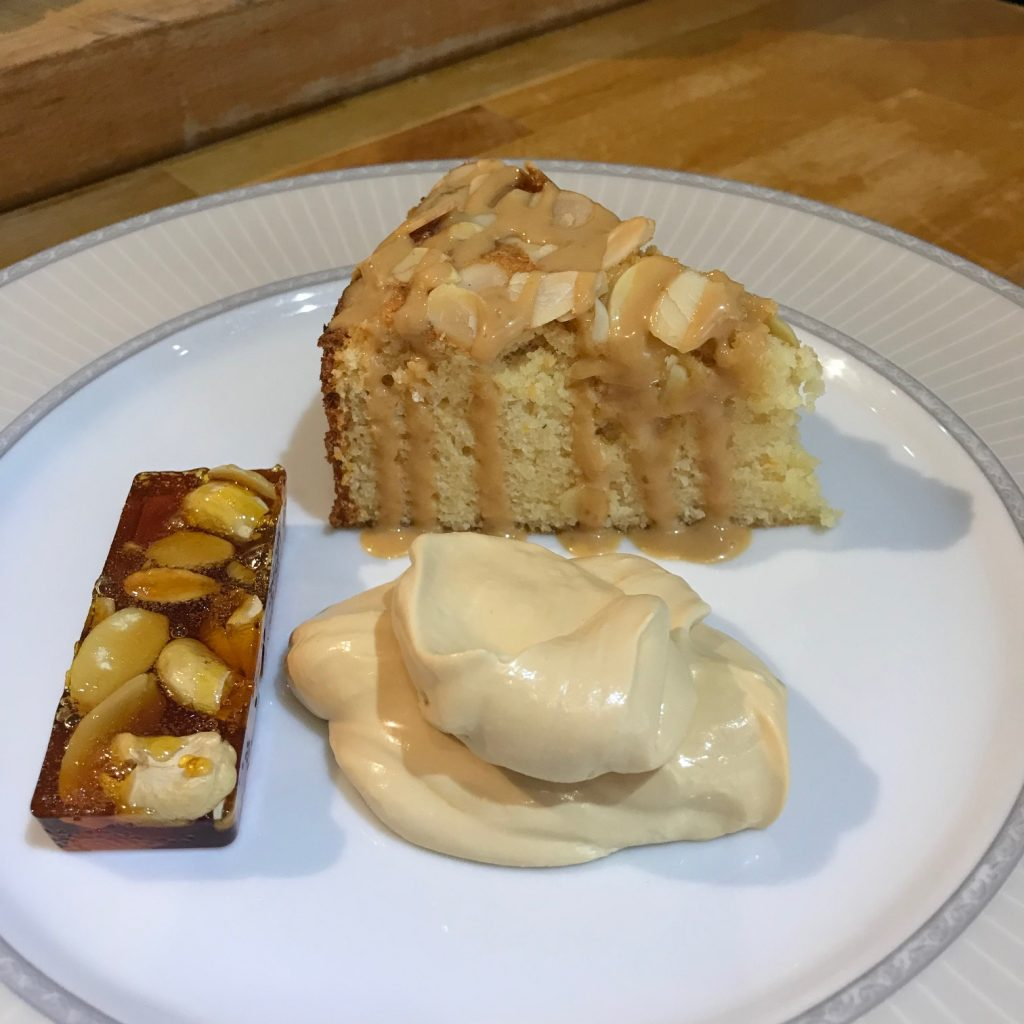 20190624 - Venetian Almond Cake with Toffee Cream and Nut Brittle