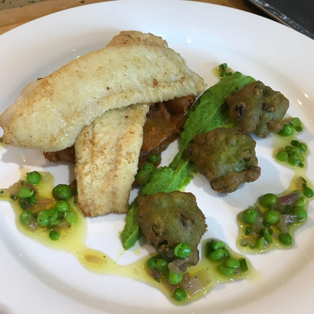 20190627 - Haddock with Chorizo Fricassee & Peas