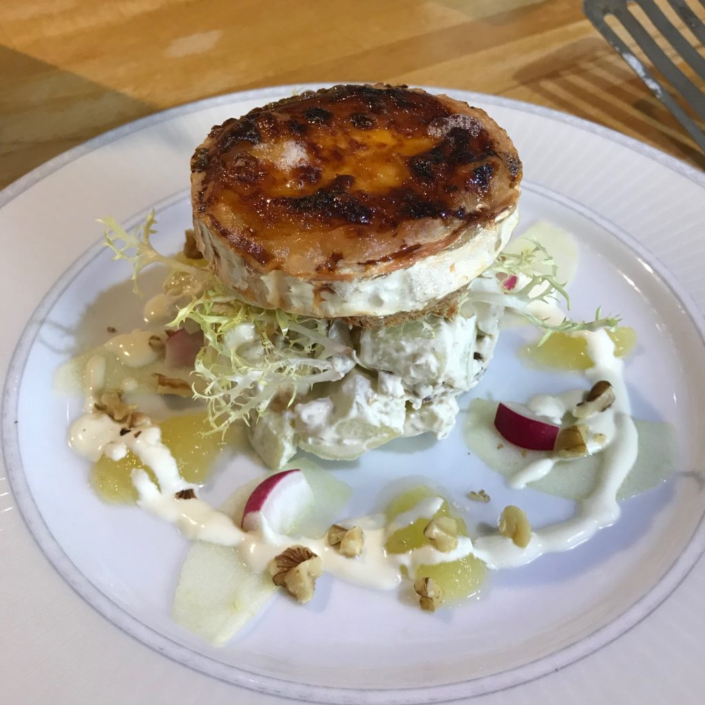 20190715 - Goat's Cheese with Waldorf Salad