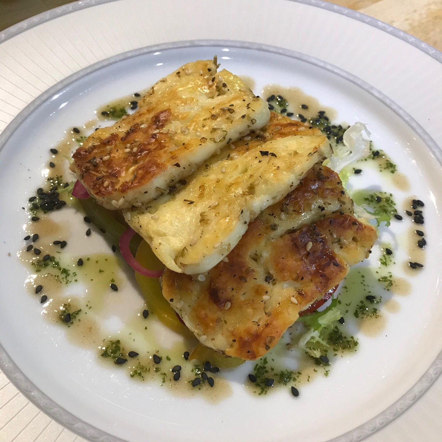 20190815 - Halloumi with Tomatoes, Sweet Peppers & Shallots