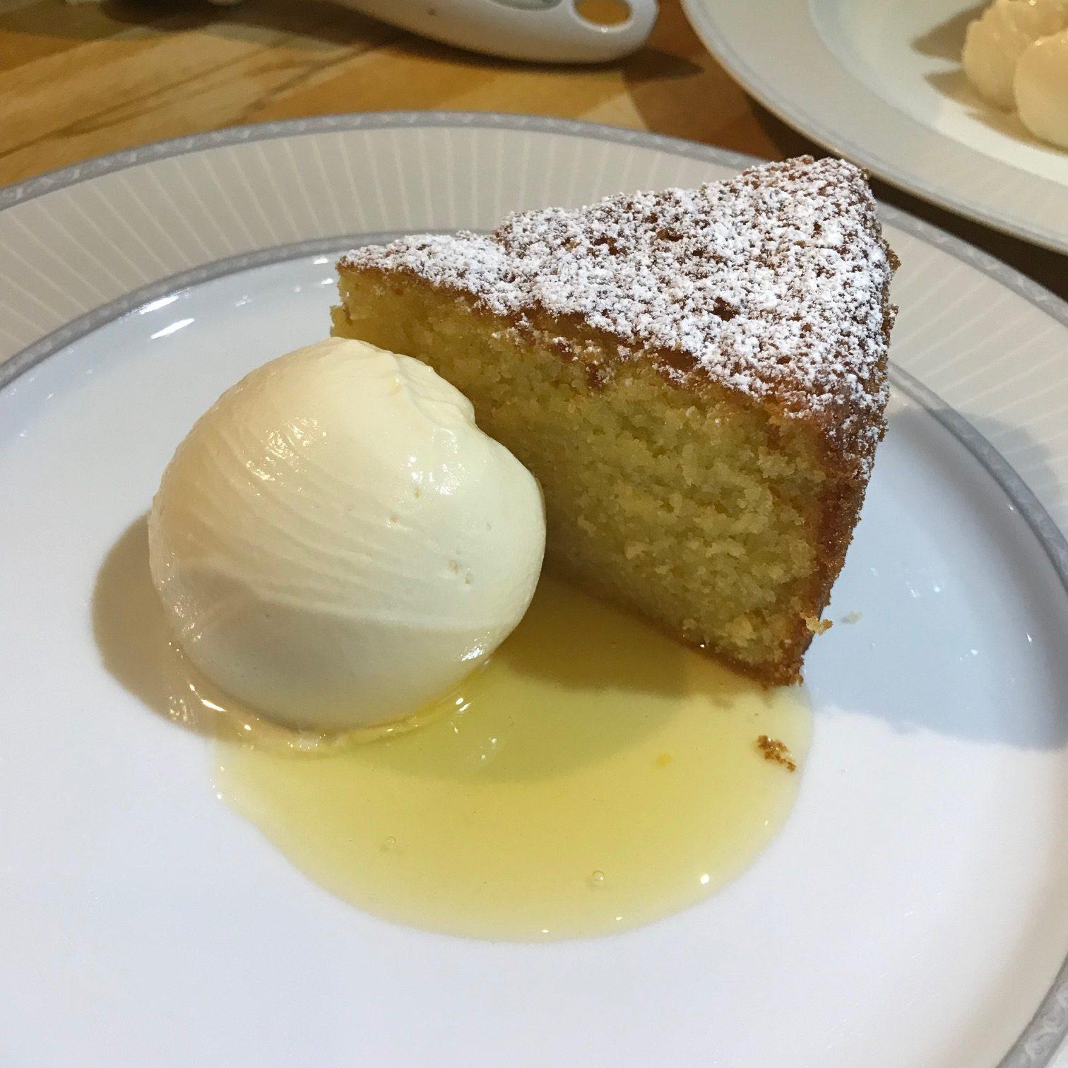 20190815 - Olive Oil Cake with Lemon Sauce and Lemon Curd Ice-cream