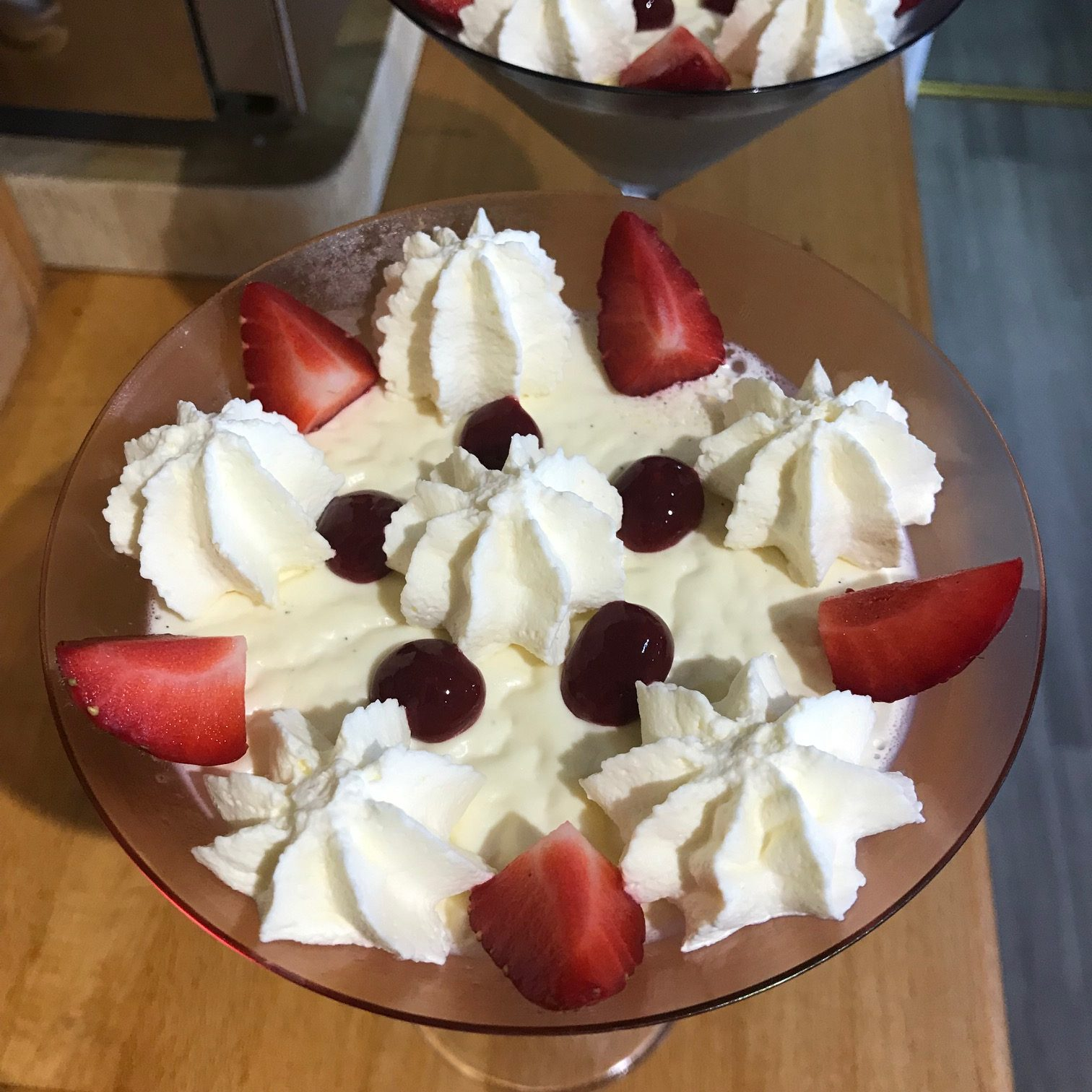 20190816 - Panna Cotta with Strawberries and Cream