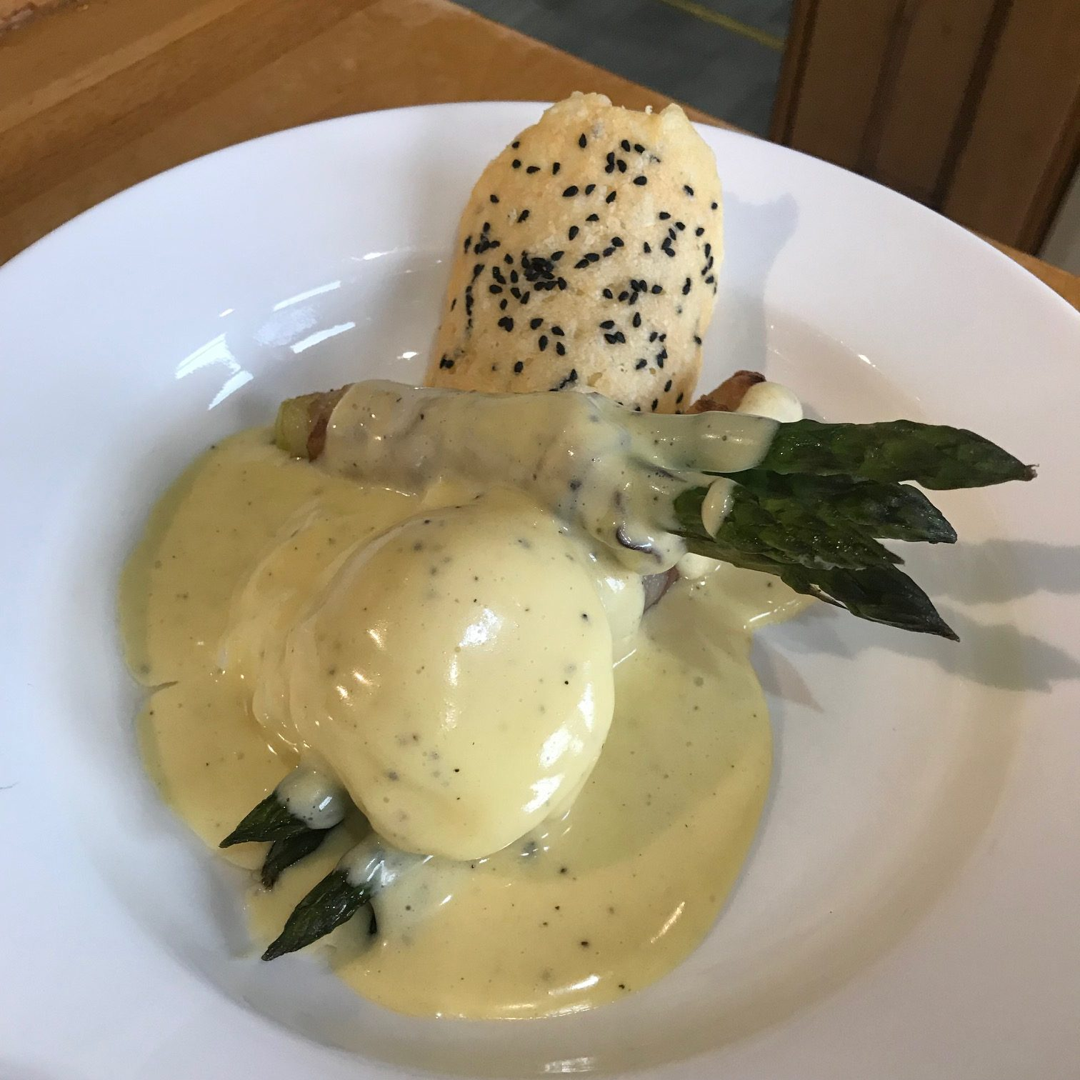 20190816 - Soft Poached Egg with Asparagus, Pancetta & Béarnaise Sauce