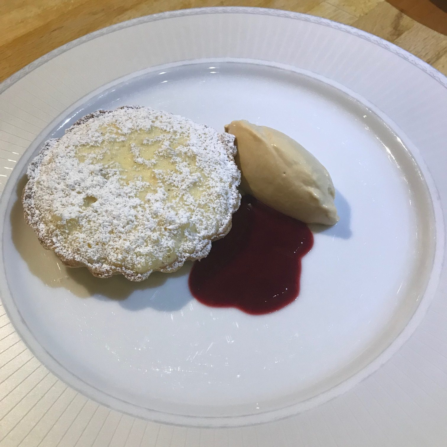 20190909 - Raspberry Rice Pudding Tart with Raspberry Sauce