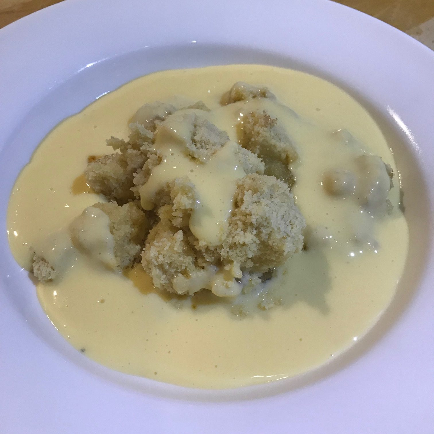 20190912 - Bramley Apple Crumble with Custard