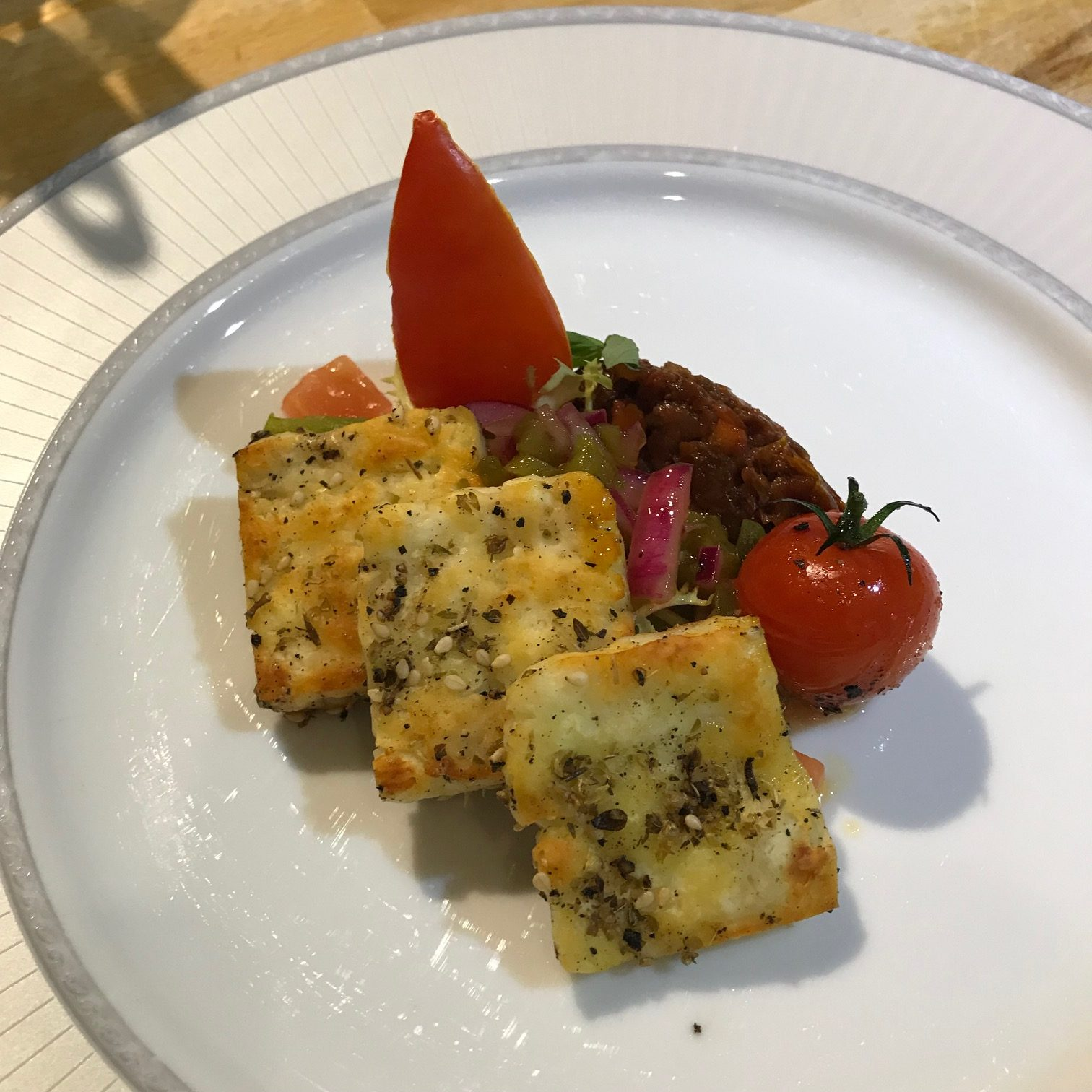 20190923 - Halloumi with Tomatoes, Sweet Peppers & Shallots